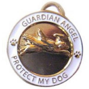 083070 luxepets Guardian Angel Dog Charm, Gold