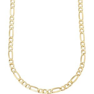 10kt Gold over Sterling Silver Figaro Chain, 20""