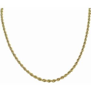10kt Gold over Sterling Silver Rope Chain, 20""