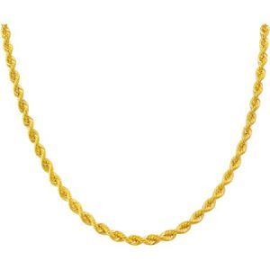 10kt Gold over Sterling Silver Rope Chain, 24""