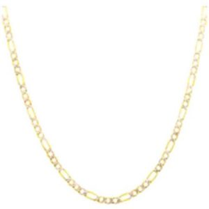 10kt Yellow Gold over Sterling Silver Figaro Chain, 20""