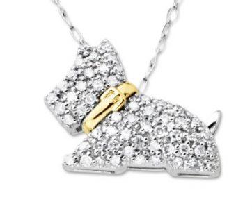 Pendants bling dog usa 14 ct diamond scottie dog pendant necklace in 10kt two tone gold aloadofball Gallery