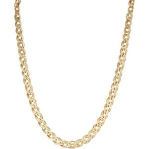 18kt Gold over Sterling Silver Double Grometta Chain, 20""