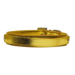 "3/4"" (18mm) Metallic Two-Tier Collar Gold Medium"