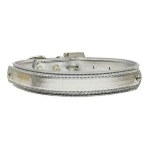 "3/4"" (18mm) Metallic Two-Tier Collar Silver Large"