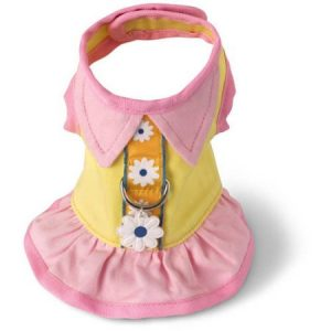 615703 Harness Dress, Flower Teacup Harness, Yellow