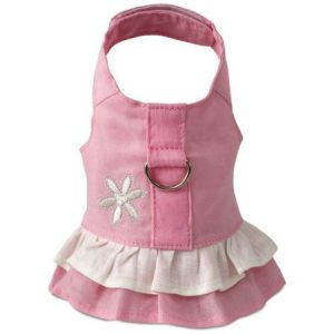 616861 Harness Dress, Hemp Teacup Pink with Flower