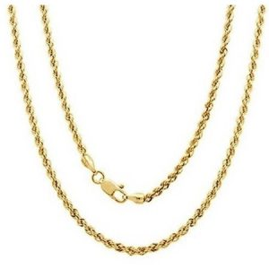 A 14kt Yellow Gold Rope Chain, 16""