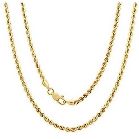 """A 14kt Yellow Gold Rope Chain, 16"""""""