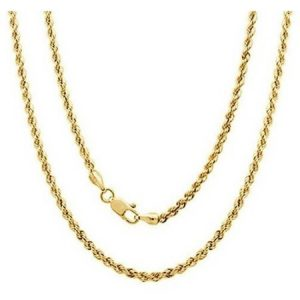 A 14kt Yellow Gold Rope Chain, 18""