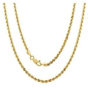A 14kt Yellow Gold Rope Chain, 20""