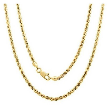 """A 14kt Yellow Gold Rope Chain, 20"""""""