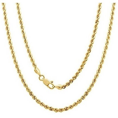 A 14kt Yellow Gold Rope Chain, 22""
