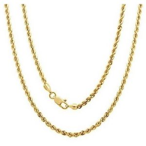 A 14kt Yellow Gold Rope Chain, 24""