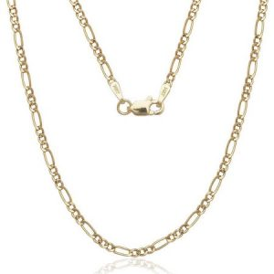"""A Solid 14kt Gold Figaro Chain, 16"""""""