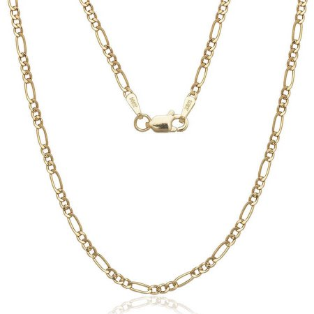 A Solid 14kt Gold Figaro Chain, 16""