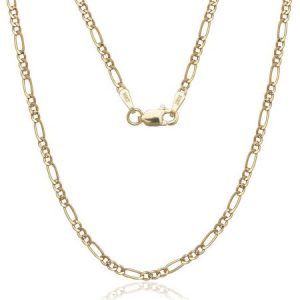 A Solid 14kt Gold Figaro Chain, 22""