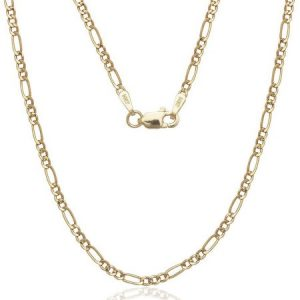 """A Solid 14kt Gold Figaro Chain, 24"""""""