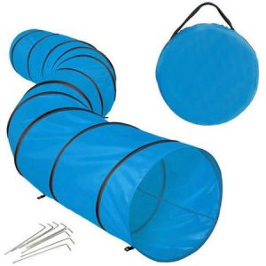 ALEKO PTUN16BL Cat Dog Playpen Tunnel Exercise Activity Toy Pet Entertainment, Blue