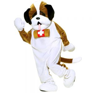 Adult Plush Puppy Dog Mascot Costume, Adult Unisex