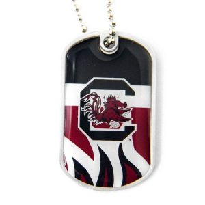 Aminco International CCP-DT-907-08 Dynamic Dog Tag - South Carolina Gamecocks