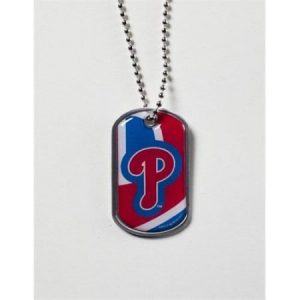 Aminco International MLB-DT-907-20 Dynamic Dog Tag - Philadelphia Phillies