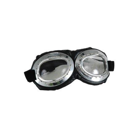 Aviator Goggle Silver & Black Adult Costume Accessory