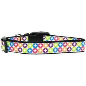 Bright Diamonds Nylon Dog Collar Medium
