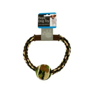 Camouflage Rope; Ball Dog Toy (Pack Of 8)