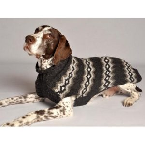 Chilly Dog Diamonds Pattern Dog Sweater - Gray