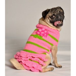 Chilly Dog Flower Skirt Dog Sweater - Pink