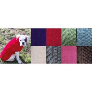 Chilly Dog Pink Cable Dog Sweater
