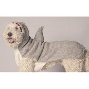 Chilly Dog Shark Hoodie Dog Sweater - Tan
