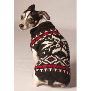 Chilly Dog Snowflake Dog Sweater - Black