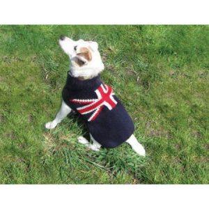 Chilly Dog Union Jack Dog Sweater
