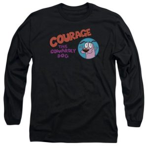 Courage The Cowardly Dog Courage Logo Mens Long Sleeve Shirt