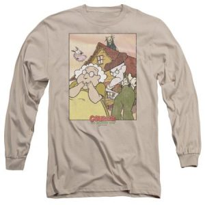 Courage the Cowardly Dog Gothic Courage the Cowardly Dog Mens Long Sleeve Shirt