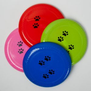 DOG TOY FLYING DISC 9.75 IN DIA. 4 COLORS IN PDQ, Case Pack of 48