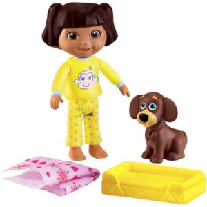 Dora The Explorer Window Surprises Doll House Toy Figure Doll w/ Dog