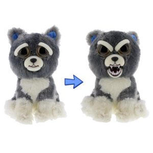 Feisty Pets by William Mark- Sammy Suckerpunch- Adorable 8.5â Plush Stuffed Dog That Turns Feisty With a Squeeze!