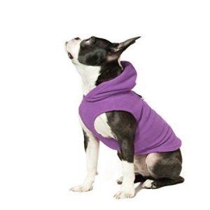 Gooby 72105-PUR-M Fleece Vest Hoodie Purple Medium