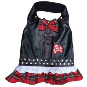 Harness Dress, Biker Red Plaid, XXS