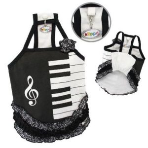 Klippo Pet KDR058XL Adorable Piano Dress With Ruffles - Extra Large