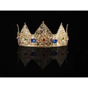 Ladies Pointed Gold Adjustable Crown Costume Accessory Adult
