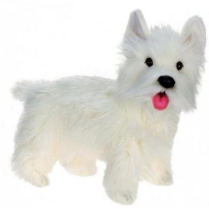 Life-like Handcrafted Extra Soft Plush West Highland Dog Stuffed Animal 19.5""