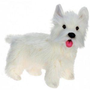 """Life-like Handcrafted Extra Soft Plush West Highland Dog Stuffed Animal 19.5"""""""