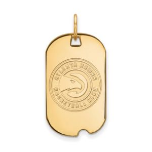 LogoArt NBA Atlanta Hawks 14kt Yellow Gold Small Dog Tag