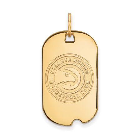LogoArt NBA Atlanta Hawks 14kt Yellow Gold Small Dog Tag