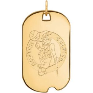 LogoArt NBA Boston Celtics 10kt Yellow Gold Large Dog Tag