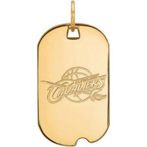 LogoArt NBA Cleveland Cavaliers 14kt Yellow Gold Small Dog Tag